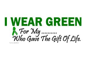 I Wear Green Organ Donor - Organ Donation Shirts