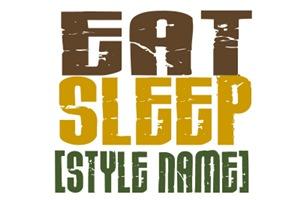 Eat Sleep [StyleName] Karate T-Shirts & Apparel
