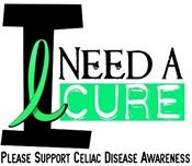 I Need A Cure CELIAC DISEASE T-Shirts & Gifts