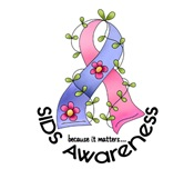 Flower Ribbon SIDS T-Shirts, Apparel, & Gifts