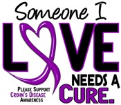 Needs A Cure 2 CROHN'S DISEASE T-Shirts & Gifts