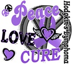 Peace Love Cure Hodgkin's Lymphoma Tee-Shirts