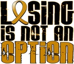Losing Is Not An Option Appendix Cancer Shirts