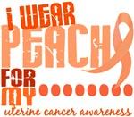 I Wear Peach 6.4 Uterine Cancer Shirts