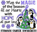 Stomach Cancer Christmas Cards and Gifts