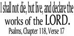 Psalms, Chapter 118, Verse 17