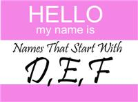 Names That Start With DEF