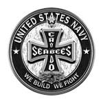 US Navy Seabees Cross Black