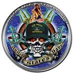 USN Navy Veteran Skull Flag