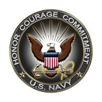 USN Eagle Honor Courage Commitment