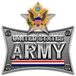 US Army Metal Star Eagle
