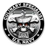 USN Culinary Specialist Skull