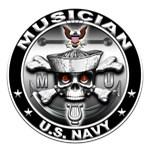 USN Musician Skull MU
