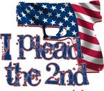 Plead the 2nd - Handgun/Flag