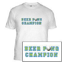 Beer Pong Champion Drinking T-Shirt