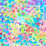 Bright Confetti Hearts