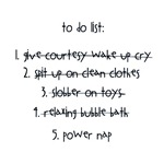 Baby to-do-list