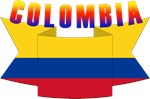 Colombia flag ribbon