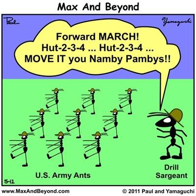 Cartoon: U.S. Army Ants