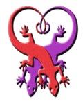 Red & Purple Gecko Heart