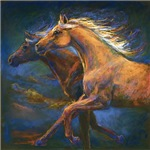 Chasing The Wind, galloping horses