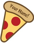YOUR NAME Cute Pizza