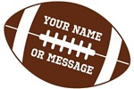 Personalized Football Graphic