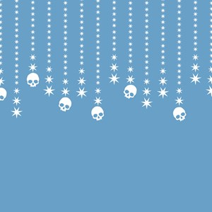 Skull Dangles Gothic Holiday Winter Blue