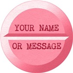 Personalized Pill Graphic Pink