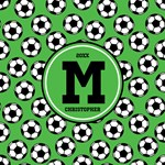 Monogram Soccer Ball Pattern