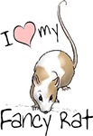 I Love My Fancy Rat T-shirts