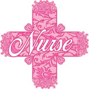 Pink Nurse Lacy Cross