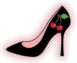 Cherry High Heel Shoe