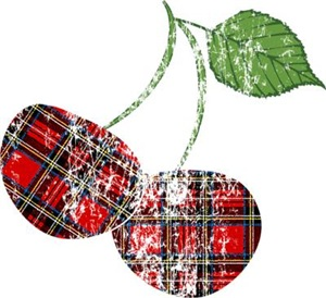 Worn Plaid Cherries