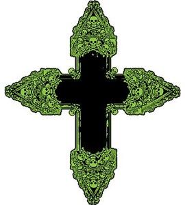 Ornate Green Gothic Cross