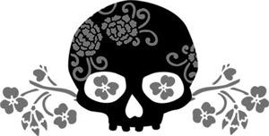 Skull With Flower Motif