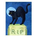 Graveyard Cat - Tombstone