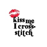 Kiss Me I Cross-Stitch