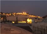 Temple Mount and Mount of Olives at night