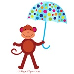 Monkey with Umbrella