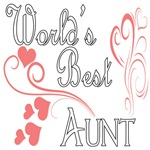 Best  Aunt (Pink Hearts)
