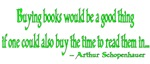 Buying books would be a good thing...