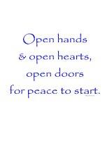 Open Hands & Open Hearts...