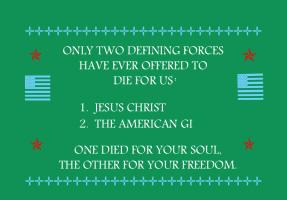 MILITARY/JESUS/FLAG