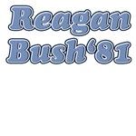 Blue retro Reagan Bush 81