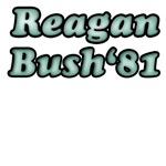 Green Vintage Reagan Bush 81