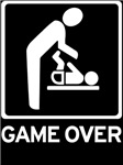 New Dad to be - Game over Diaper Duty time