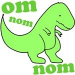 om NOM NOM dinosaur chomps