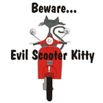 Evil Scooter Kitty Rides