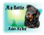 <h5>My Rottweiler Makes My Day</h5>